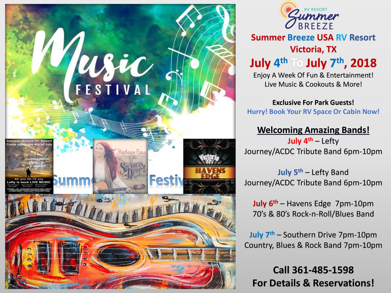 Music Festival July 2018 - Victoria